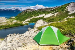 Mt McKinley and Tent