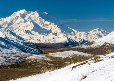 Mt McKinley from Highway Pass after snow.