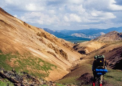 Backpacking in Polychrome area