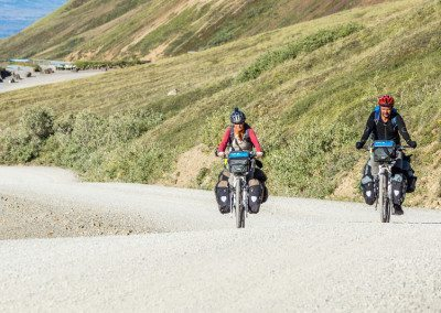 Bicycle riders near Eielson