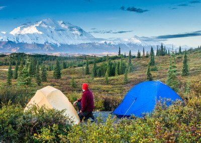 Mount McKinley, tent and camper.