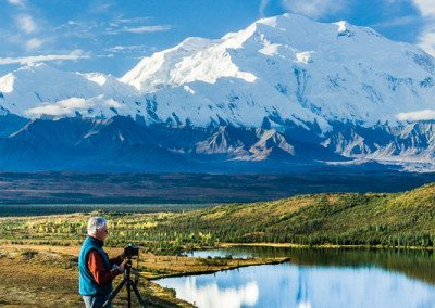 Mount McKinley, Wonder Lake, and Photographer