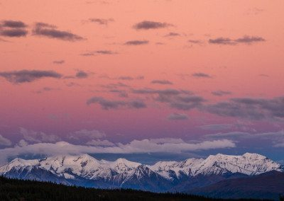 Alaska Range in Evening